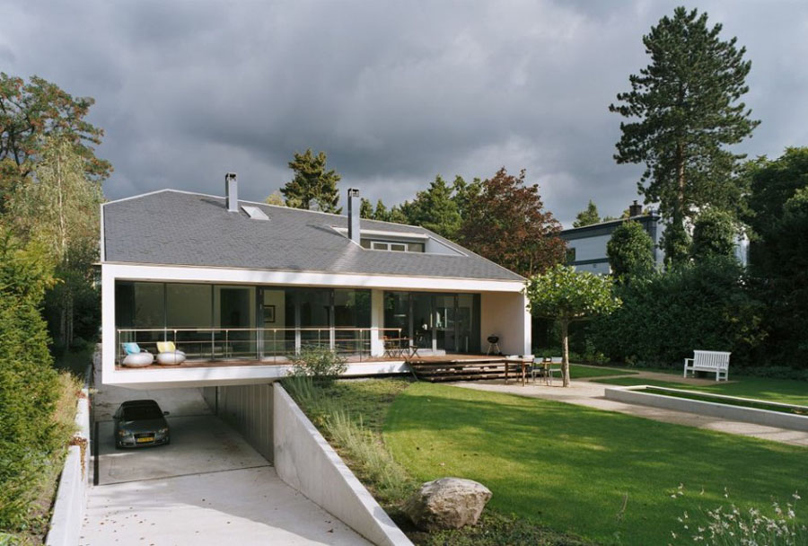 Modern and sculptural architecture villa bussum home modern - Casas rurales de diseno ...