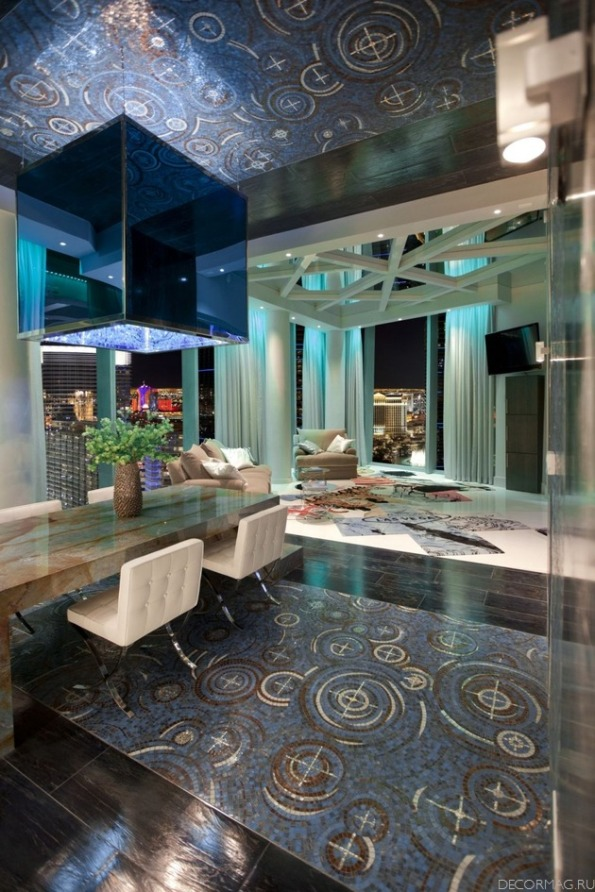Luxury penthouse in las vegas home modern for Modern home decor las vegas