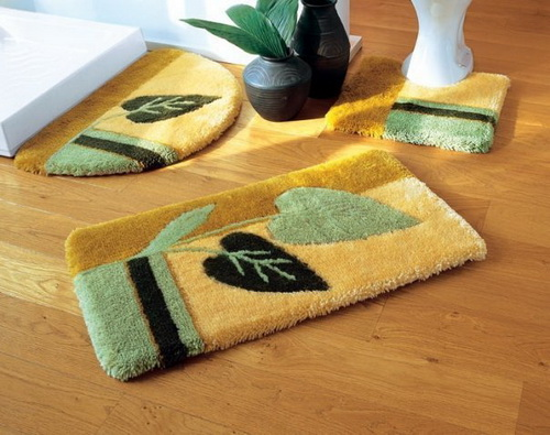 Innovative  Decorative Bathroom Rugs 1 Purple And Green Bathroom With Rugs