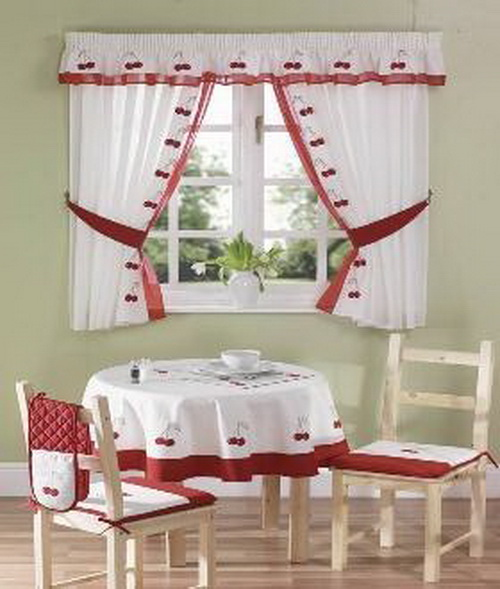Kitchen window curtains ideas home modern - Cortinas para cocina ...