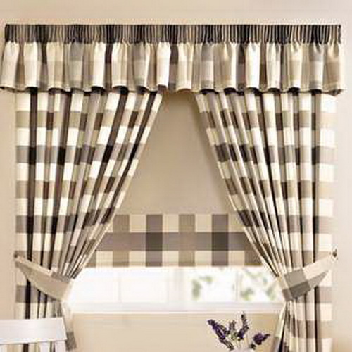 Kitchen window curtains ideas home modern - Modern valances for kitchen ...