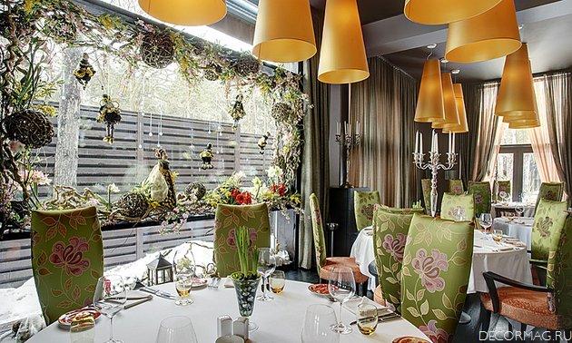 The russian interior design in restaurant business