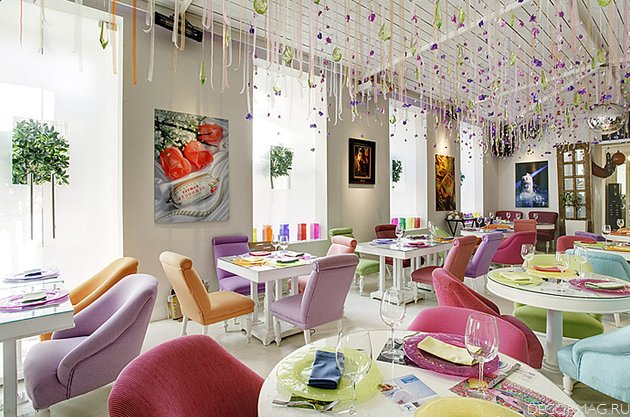 The russian interior design in restaurant business