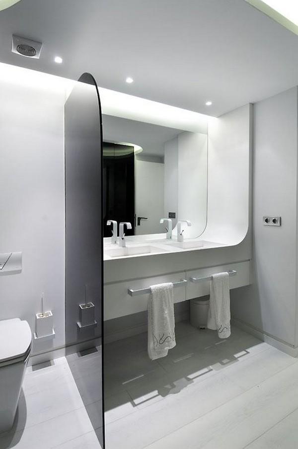 Intriguing sci fi apartment design by a cero home modern - Futuristic bathroom ideas ...